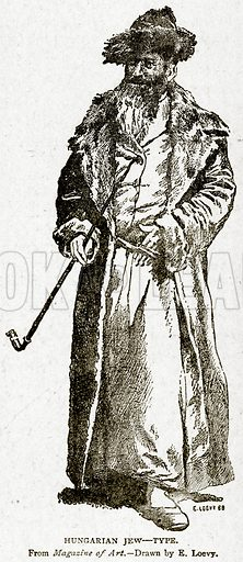 Hungarian Jew – Type. Illustration from With the World's People by John Clark Ridpath (Clark E Ridpath, 1912).