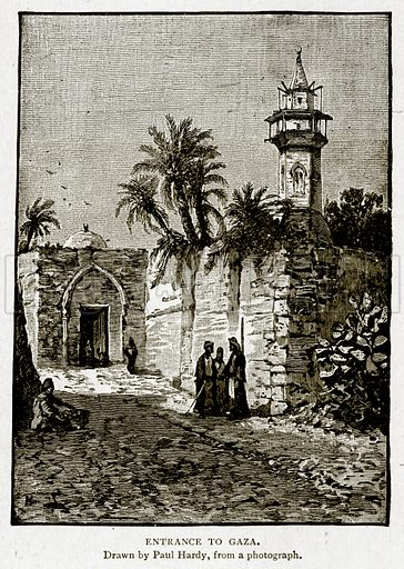 Entrance to Gaza. Illustration from With the World's People by John Clark Ridpath (Clark E Ridpath, 1912).