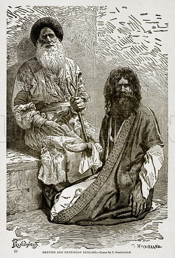 Dervish and Nestorian Beggars. Illustration from With the World