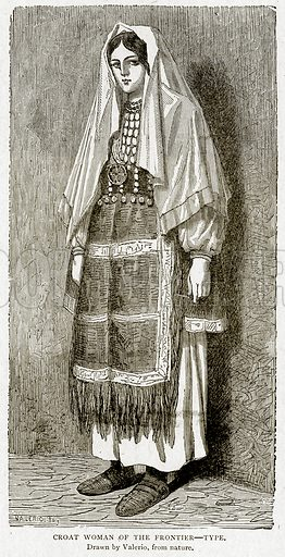 Croat Woman of the Frontier--Type. Illustration from With the World's People by John Clark Ridpath (Clark E Ridpath, 1912).