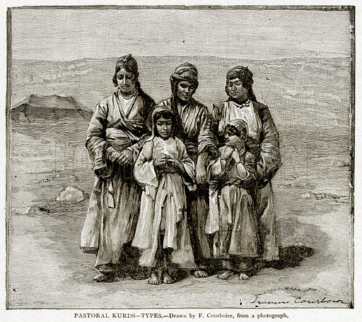 Pastoral Kurds--Types. Illustration from With the World's People by John Clark Ridpath (Clark E Ridpath, 1912).
