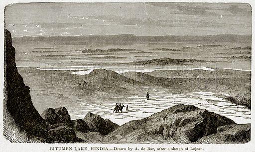 Bitumen Lake, Hindia. Illustration from With the World's People by John Clark Ridpath (Clark E Ridpath, 1912).