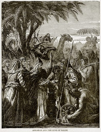Abraham and the King of Salem. Illustration from With the World's People by John Clark Ridpath (Clark E Ridpath, 1912).