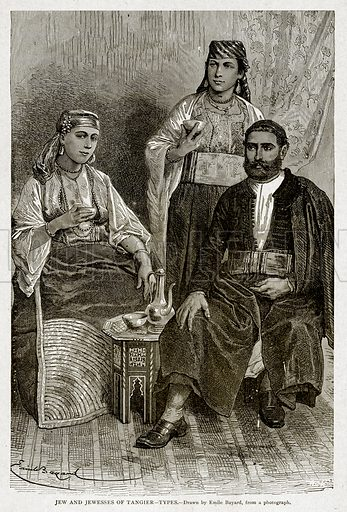 Jew and Jewesses of Tangier--Types. Illustration from With the World's People by John Clark Ridpath (Clark E Ridpath, 1912).