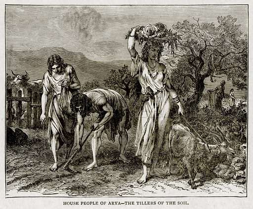 House People of Arya--The Tillers of the Soil. Illustration from With the World