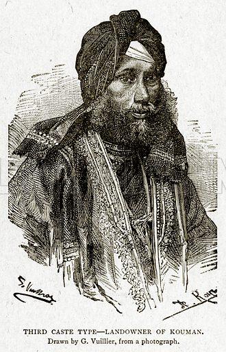 Third Caste Type – Landowner of Kouman. Illustration from With the World's People by John Clark Ridpath (Clark E Ridpath, 1912).