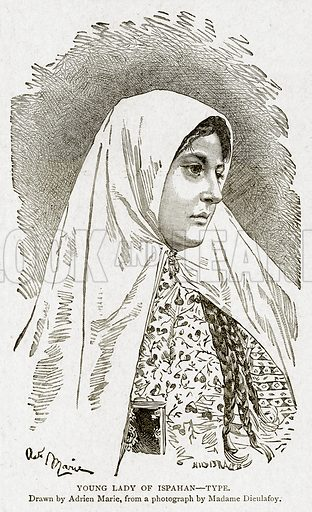 Young Lady of Ispahan--Type. Illustration from With the World's People by John Clark Ridpath (Clark E Ridpath, 1912).