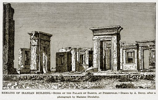 Remains Of Iranian Building Ruins Of The Palace Of Stock Image Look And Learn