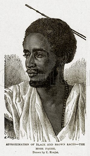 Approximation of Black and Brown Races--The Moor Faghe. Illustration from With the World