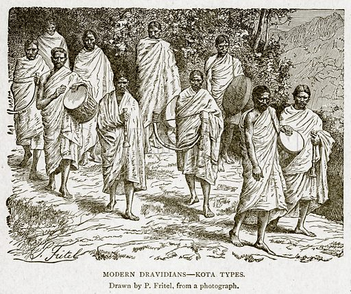 Modern Dravidians – Kota Types. Illustration from With the World's People by John Clark Ridpath (Clark E Ridpath, 1912).