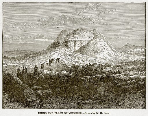 Ruins and Plain of Mugheir. Illustration from With the World's People by John Clark Ridpath (Clark E Ridpath, 1912).