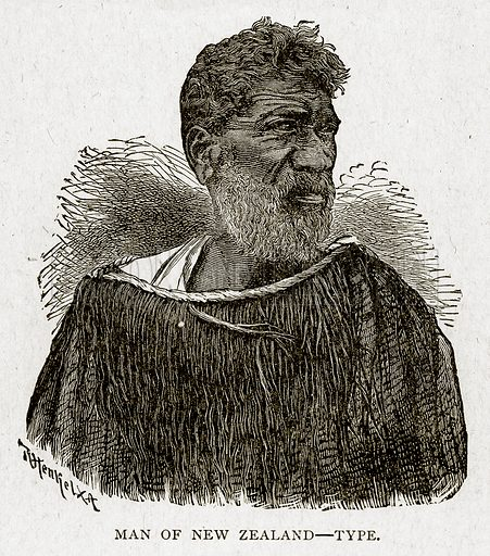 Man of New Zealand – Type. Illustration from With the World's People by John Clark Ridpath (Clark E Ridpath, 1912).