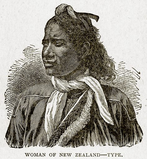 Woman of New Zealand--Type. Illustration from With the World