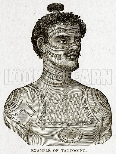 Example of Tattooing. Illustration from With the World