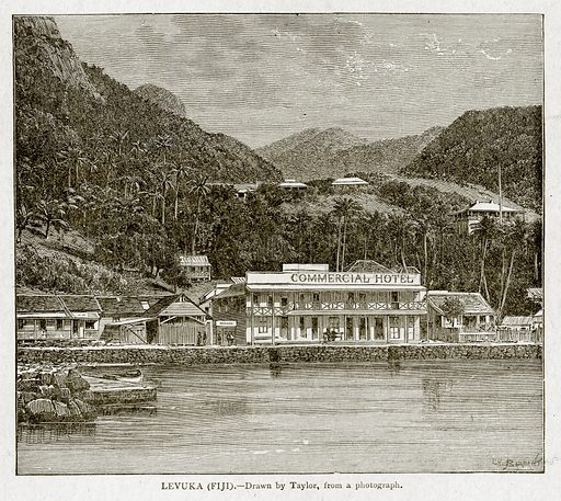 Levuka (Fiji). Illustration from With the World