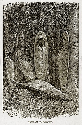 Indian Papooses. Illustration from With the World's People by John Clark Ridpath (Clark E Ridpath, 1912).