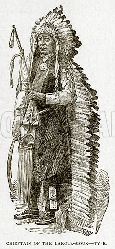 Chieftain of the Dakota-Sioux--Type. Illustration from With the World's People by John Clark Ridpath (Clark E Ridpath, 1912).