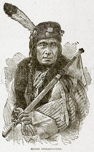 Blood Indian--Type. Illustration from With the World
