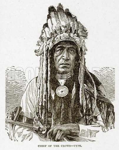 Chief of the Crows--Type. Illustration from With the World's People by John Clark Ridpath (Clark E Ridpath, 1912).