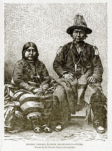 Mission Indians (Lower California)--Types. Illustration from With the World's People by John Clark Ridpath (Clark E Ridpath, 1912).