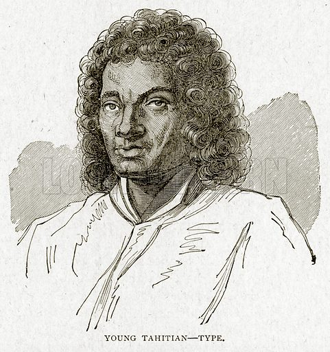 Young Tahitian--Type. Illustration from With the World's People by John Clark Ridpath (Clark E Ridpath, 1912).