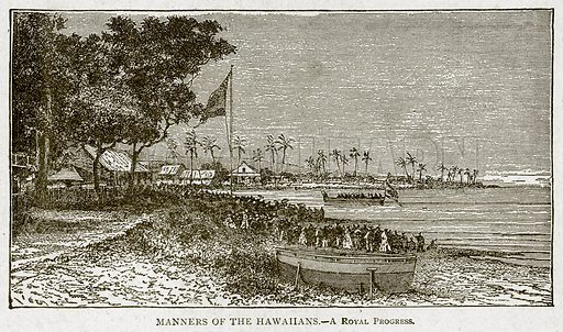 Manners of the Hawaiians.--A Royal Progress. Illustration from With the World