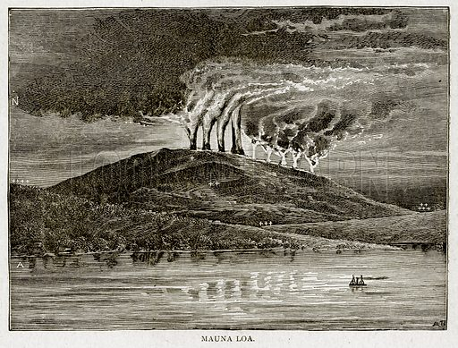 Mauna Loa. Illustration from With the World's People by John Clark Ridpath (Clark E Ridpath, 1912).