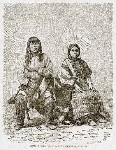 Yuma Types. Illustration from With the World's People by John Clark Ridpath (Clark E Ridpath, 1912).