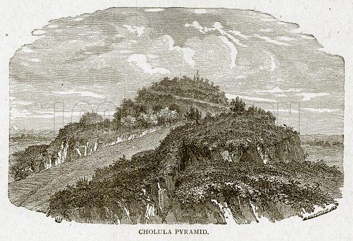 Cholula Pyramid. Illustration from With the World's People by John Clark Ridpath (Clark E Ridpath, 1912).
