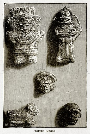 Toltec Images. Illustration from With the World's People by John Clark Ridpath (Clark E Ridpath, 1912).