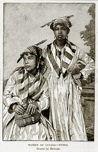 Women of Guiana--Types. Illustration from With the World's People by John Clark Ridpath (Clark E Ridpath, 1912).