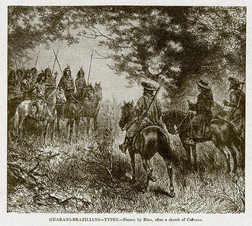 Guarani-Brazilians – Types. Illustration from With the World's People by John Clark Ridpath (Clark E Ridpath, 1912).