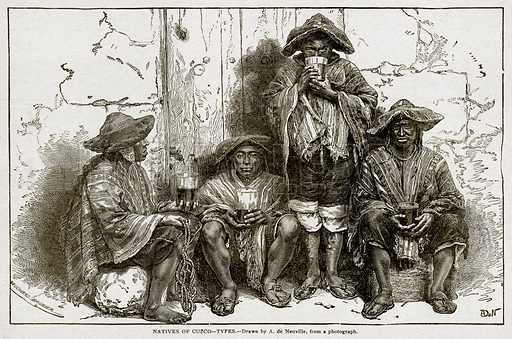 Natives of Cuzco – Types. Illustration from With the World's People by John Clark Ridpath (Clark E Ridpath, 1912).