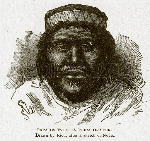 Tapajos Type--A Tobas Orator. Illustration from With the World's People by John Clark Ridpath (Clark E Ridpath, 1912).