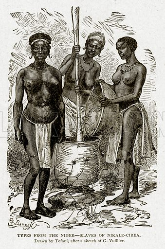 Types from the Nigar--Slaves of Nikale-Cirea. Illustration from With the World's People by John Clark Ridpath (Clark E Ridpath, 1912).