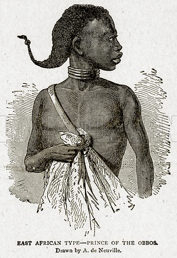 East African Type--Prince of the Obbos. Illustration from With the World's People by John Clark Ridpath (Clark E Ridpath, 1912).