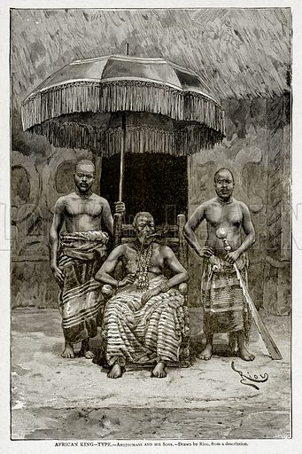 African King--Type.--Ardjoumani and his Sons. Illustration from With the World's People by John Clark Ridpath (Clark E Ridpath, 1912).