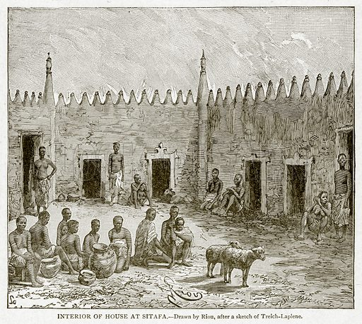 Interior of House at Sitafa. Illustration from With the World