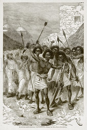 Kaffirs returning Victorious. Illustration from With the World's People by John Clark Ridpath (Clark E Ridpath, 1912).