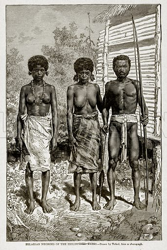 Pelagian Negroes of the Philippines – Types. Illustration from With the World's People by John Clark Ridpath (Clark E Ridpath, 1912).