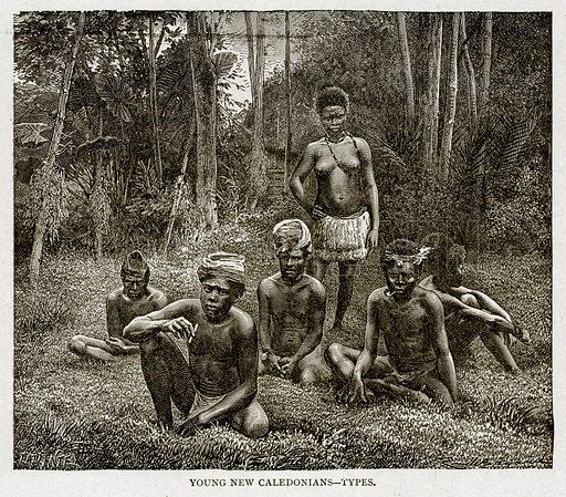 Young New Caledonians--Types. Illustration from With the World's People by John Clark Ridpath (Clark E Ridpath, 1912).
