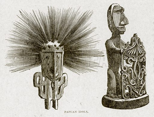 Papuan Idols. Illustration from With the World