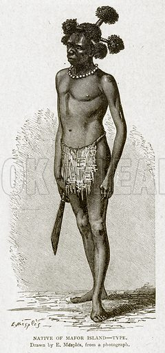 Native of Mafor Island--Type. Illustration from With the World's People by John Clark Ridpath (Clark E Ridpath, 1912).