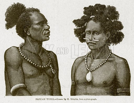 Papuan Types. Illustration from With the World