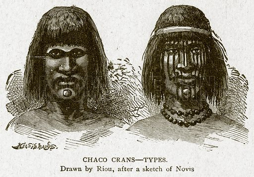 Chaco Crans--Types. Illustration from With the World's People by John Clark Ridpath (Clark E Ridpath, 1912).