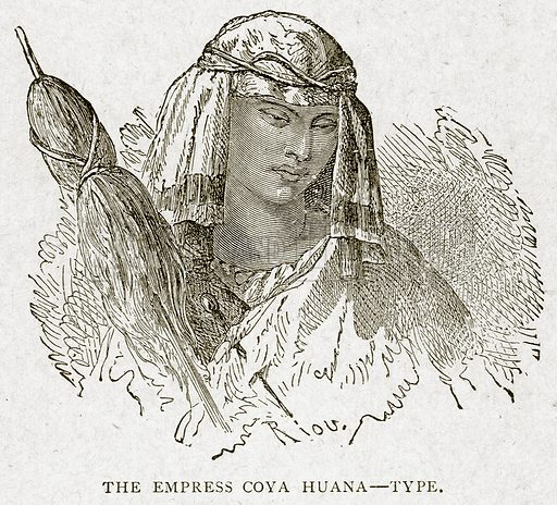 The Empress Coya Huana--Type. Illustration from With the World's People by John Clark Ridpath (Clark E Ridpath, 1912).