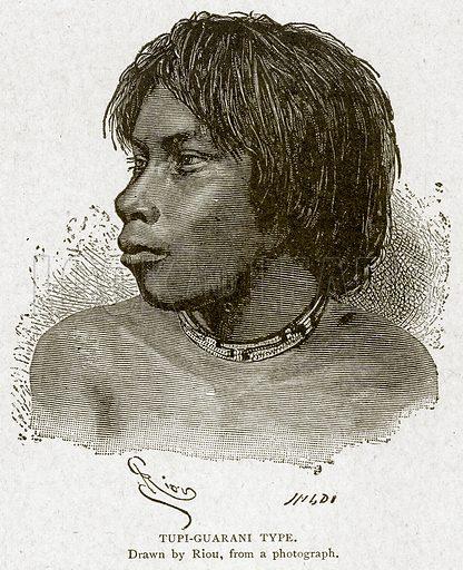 Tupi-Guarani Type. Illustration from With the World's People by John Clark Ridpath (Clark E Ridpath, 1912).