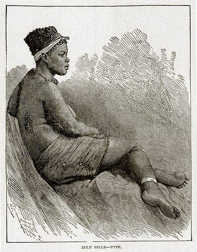 Zulu Belle--Type. Illustration from With the World's People by John Clark Ridpath (Clark E Ridpath, 1912).