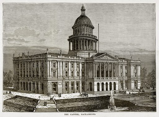 The Capitol, Sacramento. Illustration from The Countries of the World by Robert Brown (Cassell, c 1890).