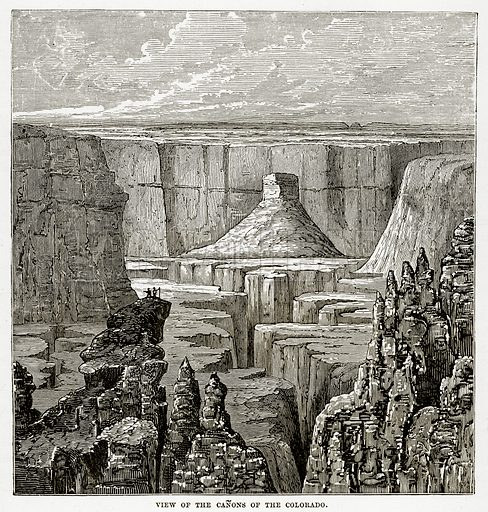 View of the Canons of the Colorado. Illustration from The Countries of the World by Robert Brown (Cassell, c 1890).